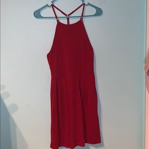 RED Dress with multiple straps on back 💃